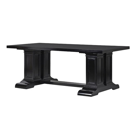 Black Column Dining Table