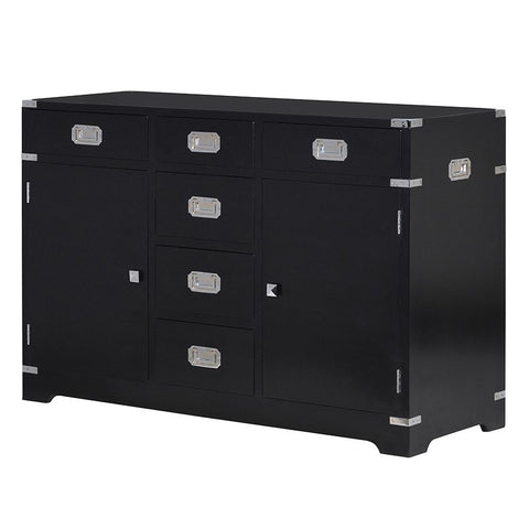 BLACK MILITARY STYLE SIDEBOARD