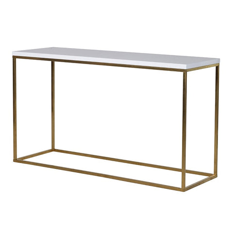 GLASS WHITE TOP CONSOLE