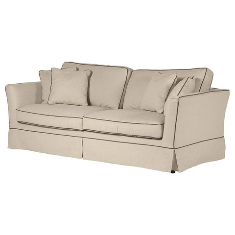 Piped-Edge 3 Seater Sofa