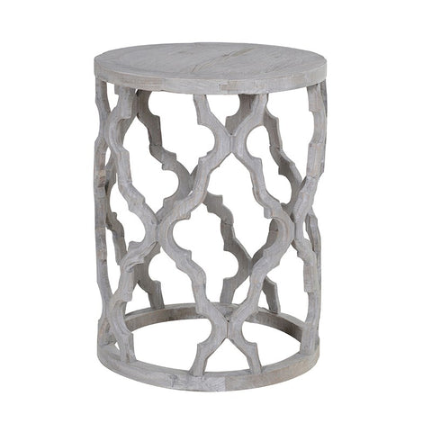 ROUND GREYWASH END TABLE