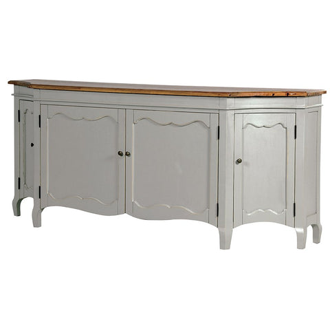 Grey painted Curved Sideboard