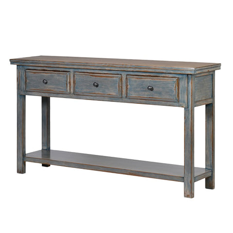 Pale Blue Wash Console Table