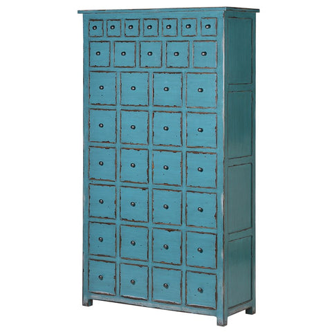 36 Drawer Blue Cabinet