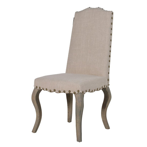 Cream Curved Leg Dining Chair