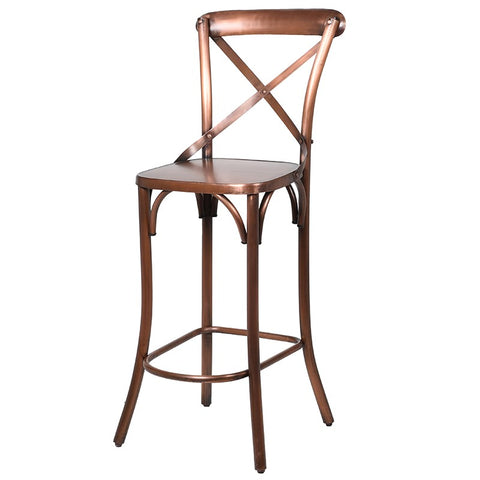 Cross Back Bar Chair