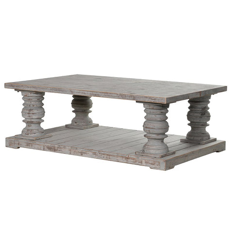 DISTRESSED CHUNKY COFFFEE TABLE