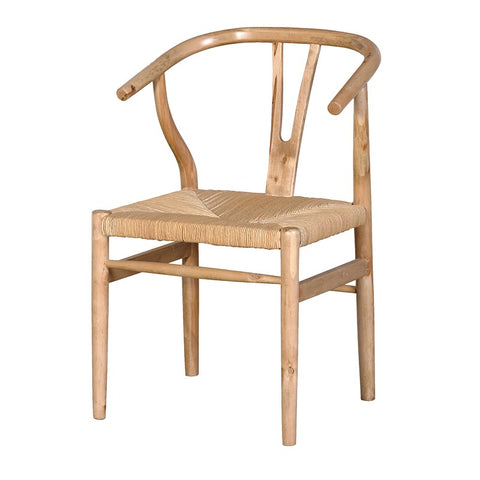 Antique Oak Wishbone Open Back Chair