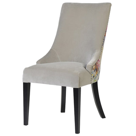 Floral backed Dining Chair
