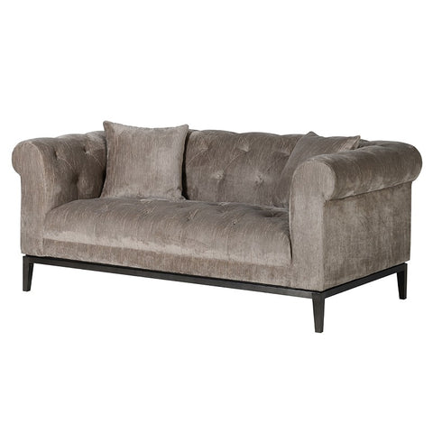 Duncombe Taupe Button 2 Seater Sofa
