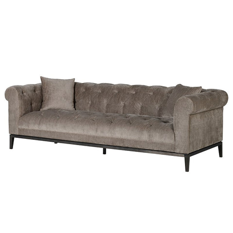 Taupe Button 3 Seater Sofa