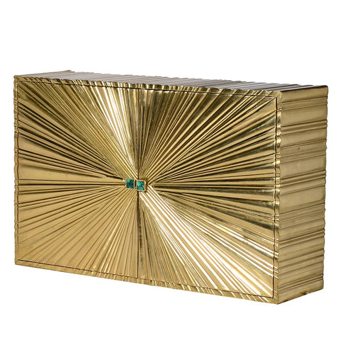 Gold Burst Sideboard with Malachite Stone Handles