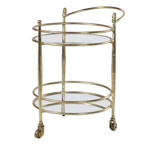 Glass & Brass Drinks Trolley