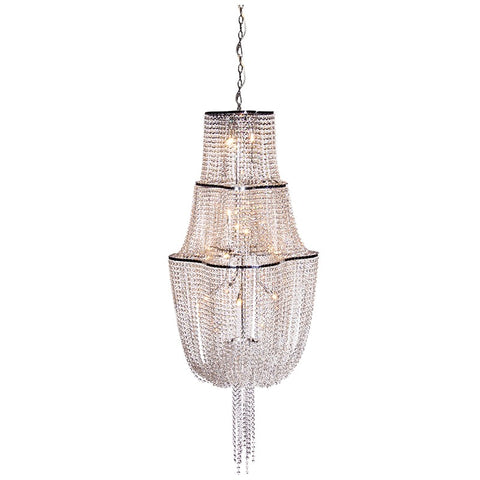 Large Crystal Tier Chandelier