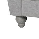 Grey Buttoned 2 seater box sofa