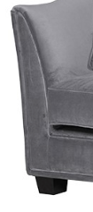 Grey 2 Seater Scrolled Sofa