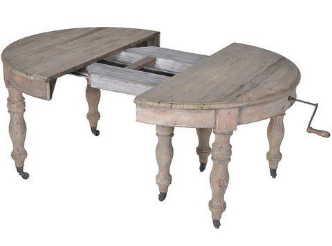 EXTENDING OLD RECLAIMED PINE DINING TABLE