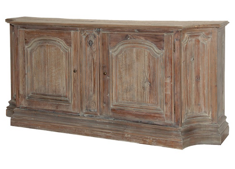 Washed finish reclaimed wood sideboard