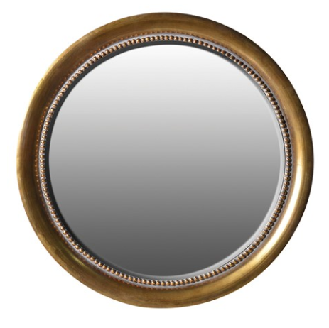 LARGE ROUND GOLD MIRROR