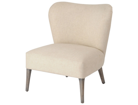 Homestead Cream Linen Mindi Occasional Chair