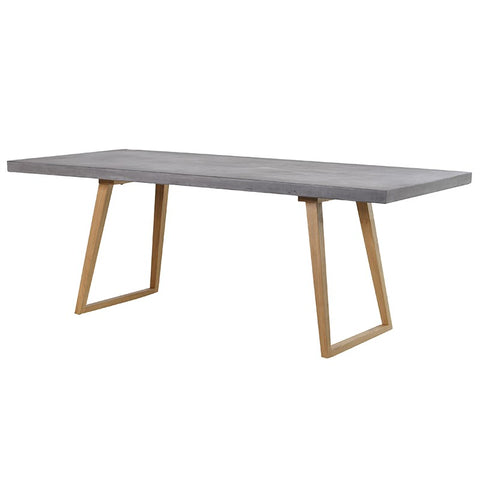 Concrete Top Rectangular Dining Table