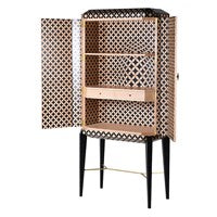 Op-Art Patterned Cabinet