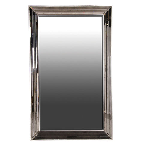 LARGE FACETED FRAME MIRROR