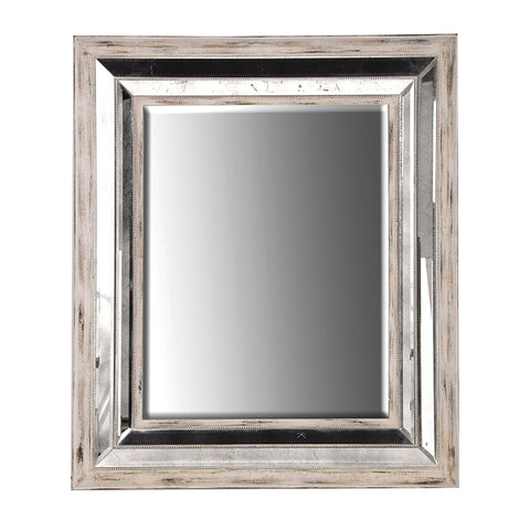 Whitewashed Mirror-Framed Mirror