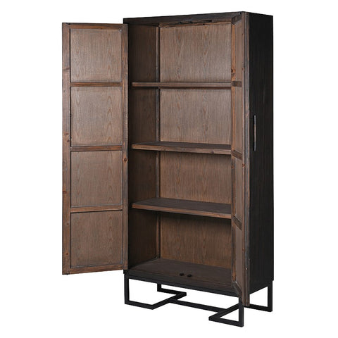 Charcoal Diamond Relief Tall Cabinet