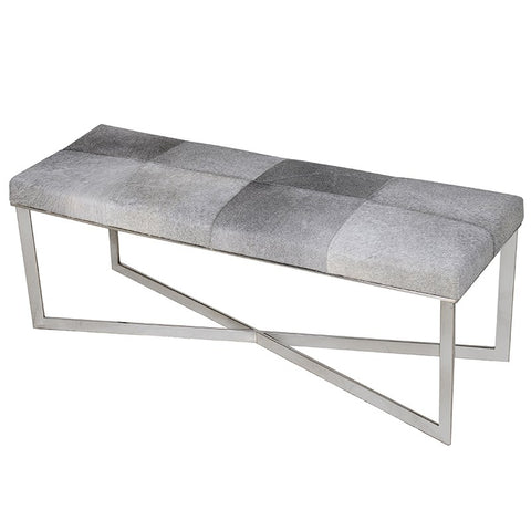 Chrome Finish X-Frame Bench