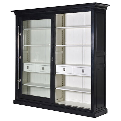 Black Kensington Glazed Wall Unit