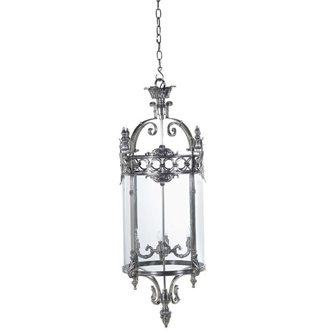 Silver & Glass Large Ceiling Pendant