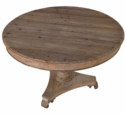 reclaimed pine drum table