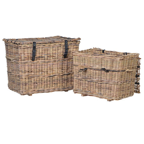 Set of 2 Iron Trim Baskets