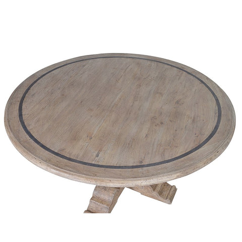 Grey Wash Round Dining Table