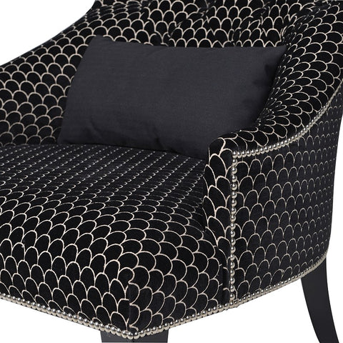 Blk Pattern Lounge Chair