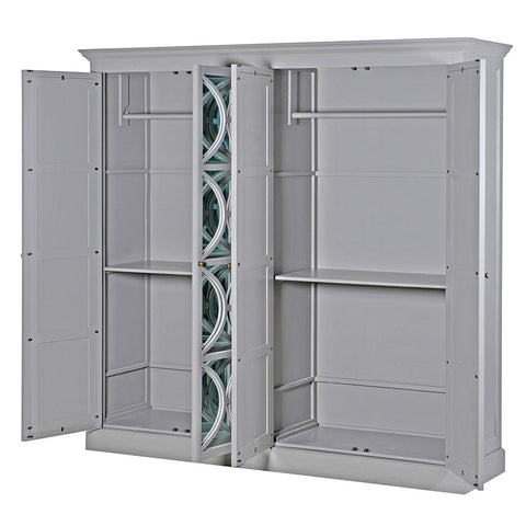 4 Door Fayence Mirrored Wardrobe