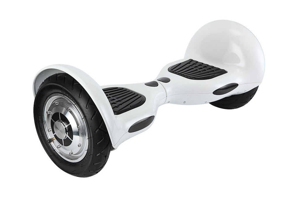 SPECIAL OFFER EvoBoards WHITE 10″ Swegway Hoverboard Segway Balance Board [Bluetooth audio]