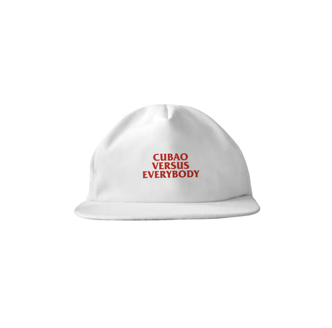 Cubao VS Everybody White Snapback