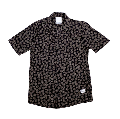 Black/Gold Floral Button-Down