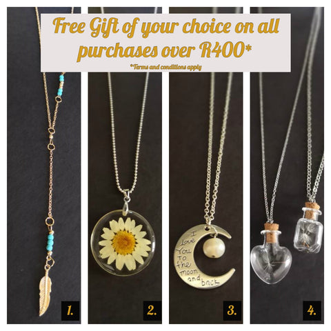 FREE GIFT OF YOUR CHOICE FOR ALL ORDERS OVER R400!