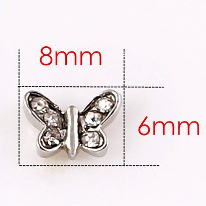 Diamante Butterfly Floating Charm