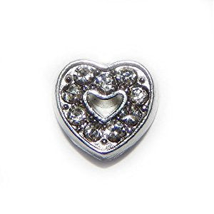 Diamante Heart Charm