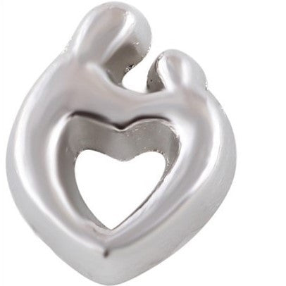 Mother Holding Child Heart Floating Charm