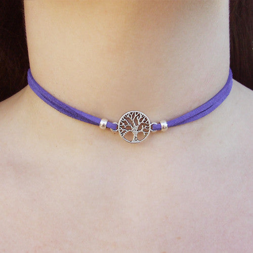 Tree of Life Suede Choker
