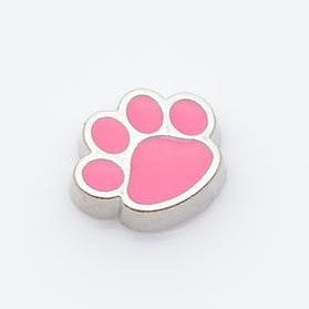 Pink Paw Floating Charm