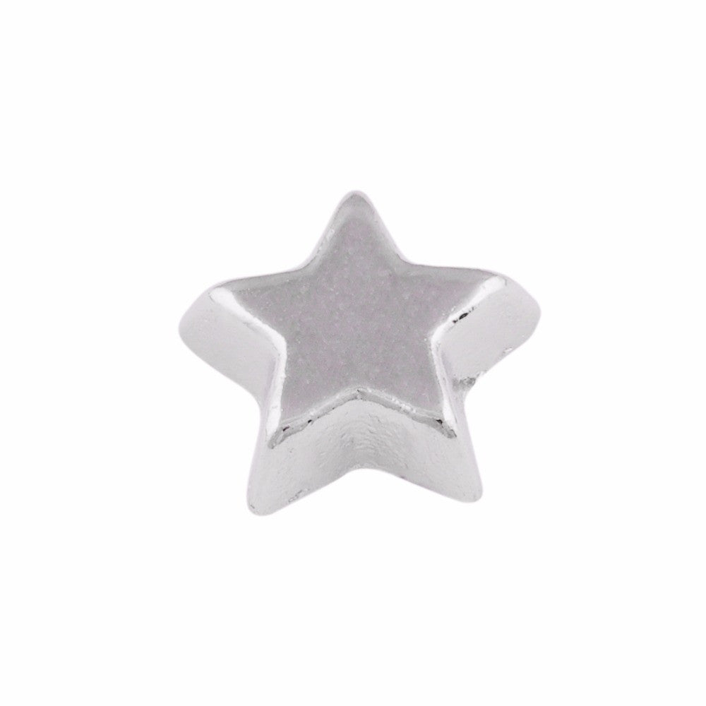 Silver Star Floating Charm