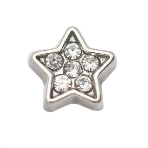 Diamante Star Floating Charm