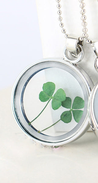 Four Leaf Clover Necklace - Silver