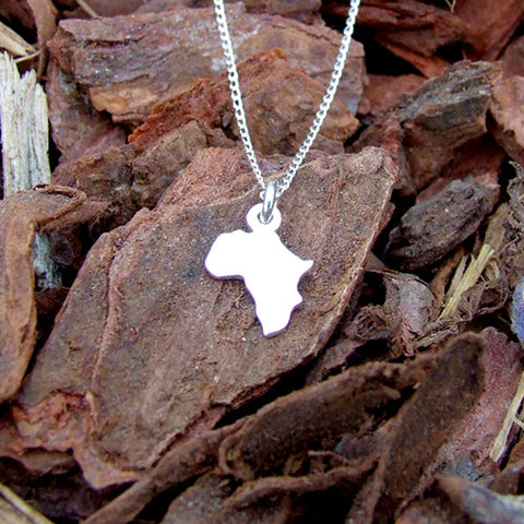 sterling silver 925 Africa Necklace charm chain pendant
